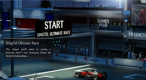 SingTel Unveiled F1 Simulators & SingTel Grid Girls