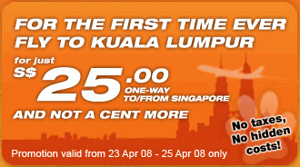 Tiger Airways Latest Offers Include Cheap Flight from Singapore to KL
