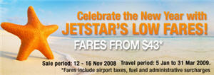 Jetstar Asia's 4th Anniversary Celebration! 12-16 Nov