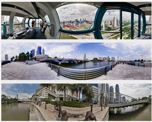 Singapore in 360 Degree Panoramic Photography