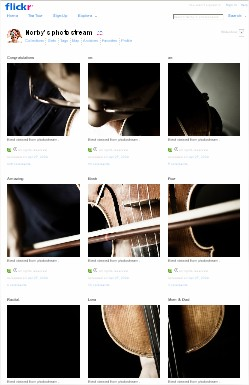 Very Creative Use of Flickr