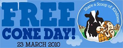 Ben & Jerry Free Cone Day: 23 March 2010