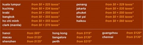 Tiger Airways: 100,000 Free Seats to 11 Cities by 10 Mar 2010