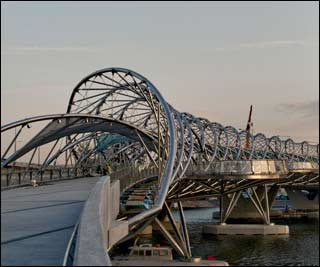 Double Helix Bridge opens at Marina Bay on April 24