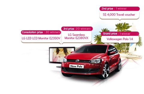 2010 LG LED Monitor Contest: Win Volkswagen POLO 1.4