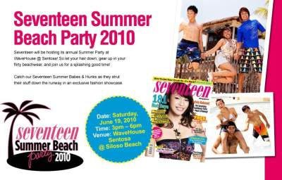 Win a pair of e-invites to the Seventeen Summer Beach Party 2010