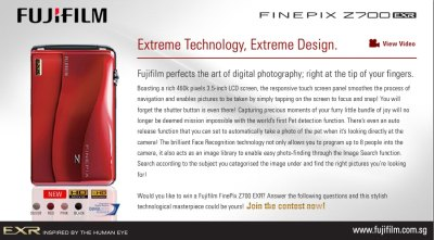 Answer 3 simple question and stand to win a Fujifilm finepix Z700 EXR!