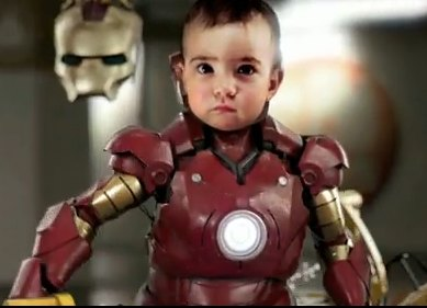 Iron Baby is so cute and cool!