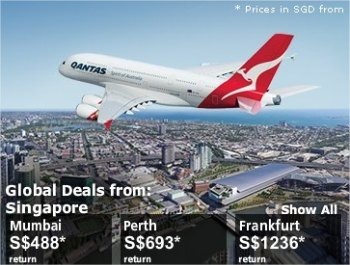 Qantas global deals from Singapore till 8 Sep 2010