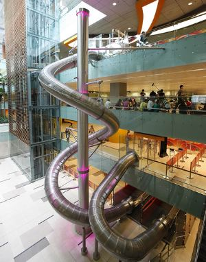Slide@T3 is the tallest slide in Singapore