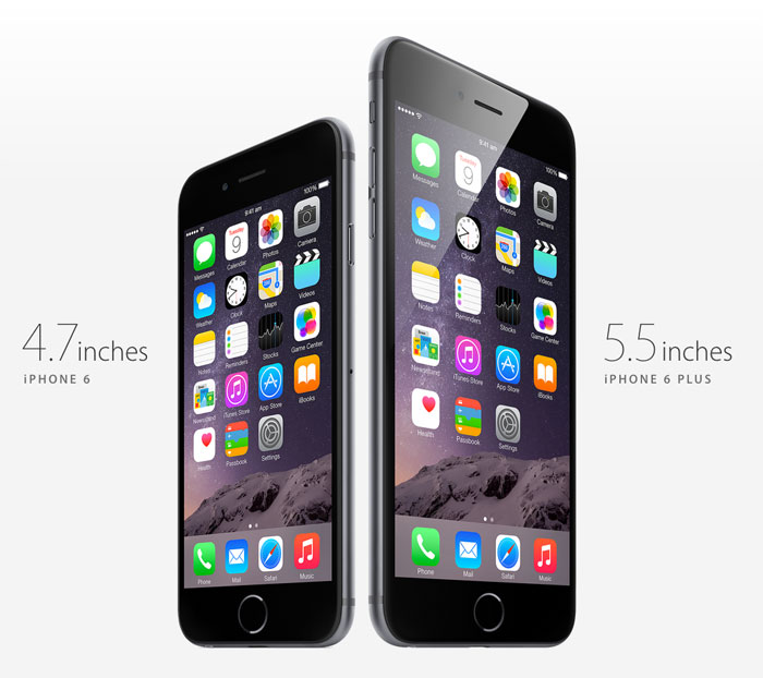 iphone 6 in two sizes